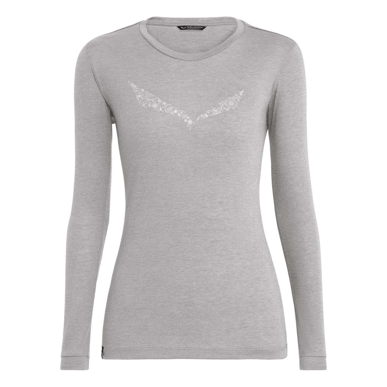 SALEWA Solid Logo Dry W L//S tee Camiseta Mujer