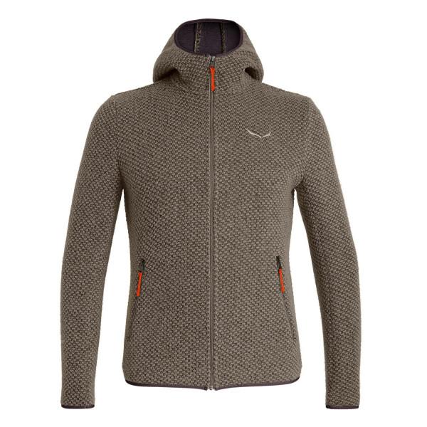 Salewa Woolen 2L Fleece Jacket Black Out Melange Men