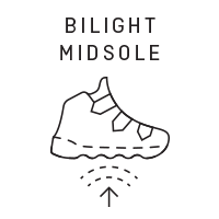 Mid stiff: Nylon / Bilight Midsole